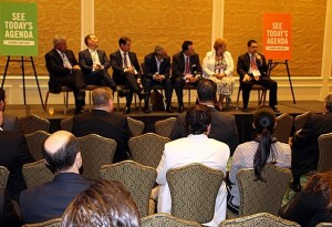 Panelists at the Bisnow's South Florida 2016 Industrial & E-Commerce Revolution event